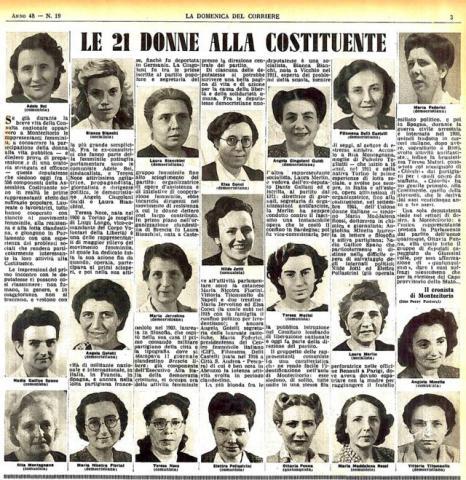 21 donne alla costituente